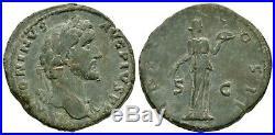 Ancient Roman Imperial Coins Antoninus Pius Fides Sestertius