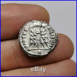 Ancient Roman Imperial Constantius I Clorus Silver Argenteus Coin 295-297 AD