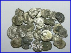 Ancient Roman Imperial Damaged Silver Denar Coins LOT 26 pieces