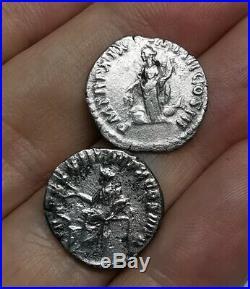 Ancient Roman Imperial Marcus Aurelius 161-180 AD Silver Denarius Coins LOT- 2ps