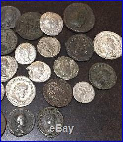 Ancient Roman Lot of 33 Coins. Better Type, Good Study Group. Silver & Bronze