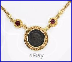 Ancient Roman Maximianus Bronze Coin (A. D. 286-305) in Spectacular 14kt Necklace