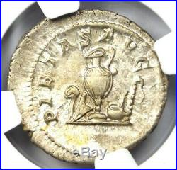 Ancient Roman Maximus AR Denarius Silver Coin 235-238 AD Certified NGC AU