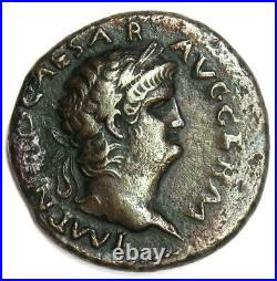 Ancient Roman Nero AE As Copper Coin 66 AD VF (Very Fine) Rare Coin