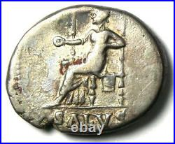 Ancient Roman Nero AR Denarius Coin 54-68 AD Choice VF Rare Coin