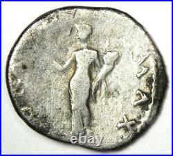 Ancient Roman Otho AR Denarius Silver Dolphin Coin 69 AD Good Fine / VF