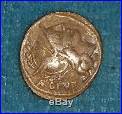 Ancient Roman Republican AR Coins Jupiter in Quadriga Denarius 101 BC Ref. 650
