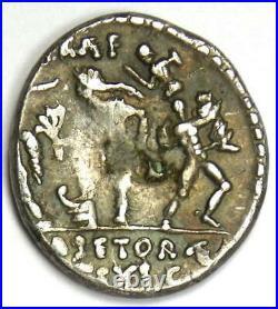 Ancient Roman Sextus Pompey Magnus AR Denarius Silver Coin 37 BC VF