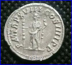 Ancient Roman Silver Coin Caracalla 196-217 AD