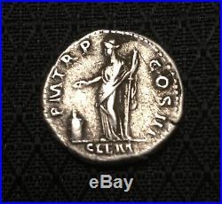 Ancient Roman Silver Coin Denarius Of Hadrian(117-138)/ClementiaVF+bonus