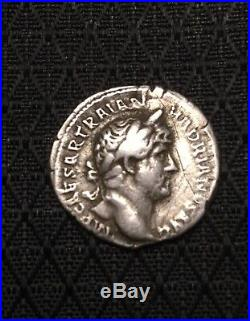 Ancient Roman Silver Coin Denarius Of Hadrian(117-138)/ClementiaXF+bonus