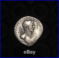 Ancient Roman Silver Coin Denarius Of Hadrian(117-138)/FortunaXF