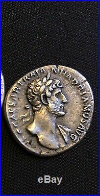 Ancient Roman Silver Coin Denarius Of Hadrian(117-138)/Salus&SerpentXF+bonus