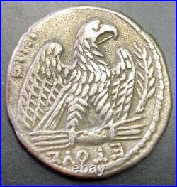 Ancient Roman Silver Coin Emperor Nero 54-68 Ad. Tetradrachm Scarce Coin