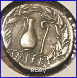 Ancient Roman Silver Coin Of Q Caecilius Metellus