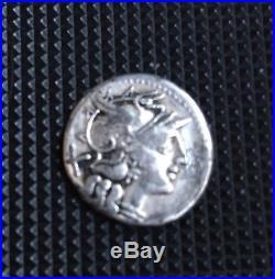 Ancient Roman Silver Coin Republican denariusL Saufeia(152BC)early Republic