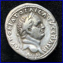 Ancient Roman Silver Coin Vespasian The Fall Of Jerusalem Second Temple