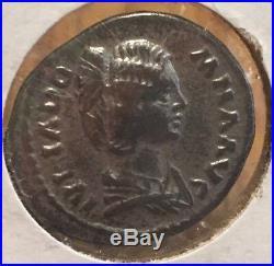 Ancient Roman Silver Coin of the Empress Julia Domna
