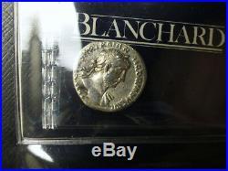 Ancient Roman Silver Denarius Coin 147 29BC With Certificate