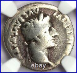 Ancient Roman Tiberius AR Denarius Silver Tribute Penny Coin 14-37 AD NGC VG