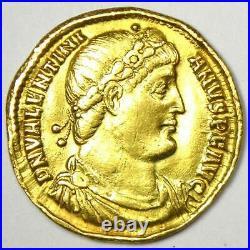Ancient Roman Valentinian I AV Solidus Gold Coin 364-375 AD VF / XF