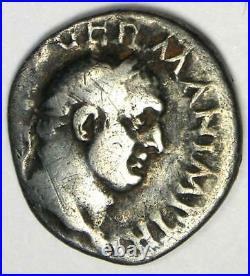 Ancient Roman Vitellius AR Denarius Silver Coin 69 AD Good Fine / VF Rare