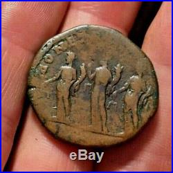 Ancient Roman coin Sestertius SEPTIMIUS SEVERUS 194AD THREE MONETAE RIC678a 20g