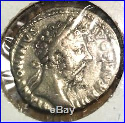 Ancient Roman silver coin of the Marcus Aurelius