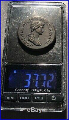 Ancient Rome Coin Caesar Roman Empire XL Victory Medallion Lady Goddess 90AD SC