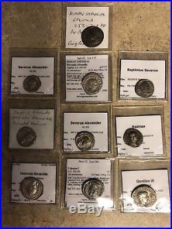 Ancient roman Silver Coin Lot