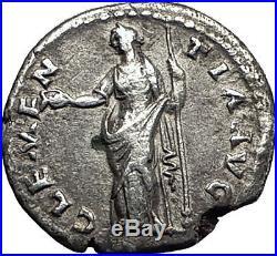 Antoninus Pius Marcus Aurelius Father Silver Ancient Roman Coin Mercy i59146