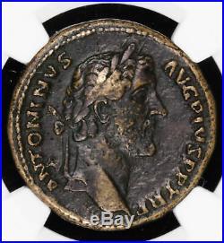 Antoninus Pius Sestertius 138 161 Ad Roman Empire Ancient Coin Pax Avg Sc N