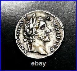 Antoninus Pius. Stunning Denarius. Father to Marcus Aurelius. Roman Silver Coin