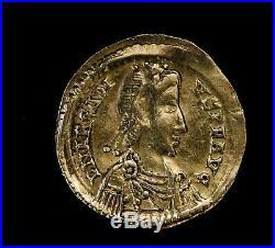 Arcadius 383 408 AD Solidus Gold Ancient Roman Coin Arcadius Standard Victo