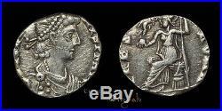 Arcadius  Ancient Roman Silver Siliqua Coin 023843