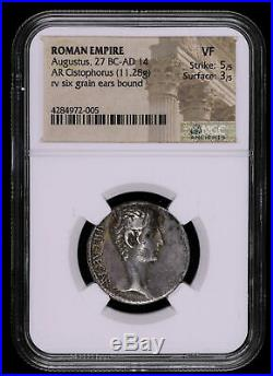 Augustus 27 Bc 14 Ad Cistophorus Ancient Roman Empire Coin Six Grain Ears C