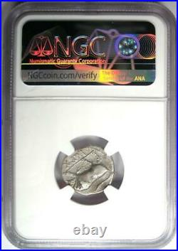 Augustus AR Denarius Bull Coin 27 BC 14 AD (Lugdunum). Certified NGC XF (EF)