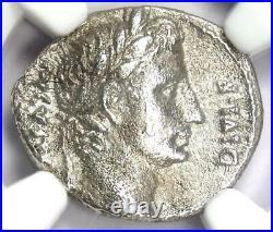 Augustus AR Denarius Coin 11 BC (Lugdunum) Certified NGC Choice VF (Very Fine)