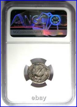 Augustus AR Denarius Coin 27 BC 14 AD (Spanish Mint) Certified NGC VF