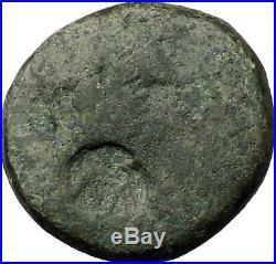 Augustus & Julius Caesar 27BC Thessalonica Ancient Roman Coin Countermark i31220