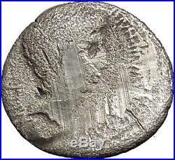 Augustus as Octavian 37BC Triumvirite Authentic Ancient Silver Roman Coin i52910