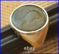 Authentic Ancient Coin of First Roman Emperor Augustus 925 Solid Silver Ring