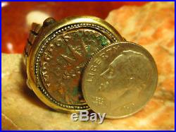 Authentic Ancient Roman Emperor Bronze Coin 925 silver Mens Ring