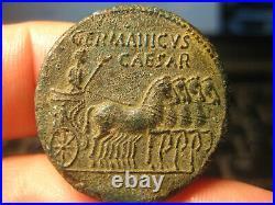 Authentic Roman Bronze coin GERMANICUS father of Caligula-SESTERTIUS 18.10g