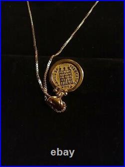 Avi Nirit Berman Jewelry 14k Gold Necklace Ancient Roman Coin Pendant 18k Bezel