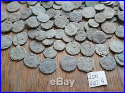 Beautiful Lot Of 200 Ancient Roman Bronze Coins For Cleaning Intact Lot 4