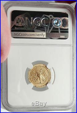 Brutus Julius Caesar Roman Assassin 44BC Ancient Greek GOLD Coin NGC MS i68143