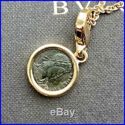 Bvlgari Monete 18kt Yellow Gold Ancient Bronze Roman Coin Charm / Pendant