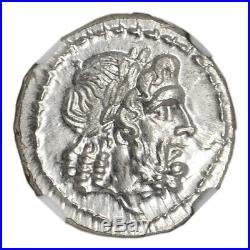 C. 211 208 BC Roman Republic AR Victoriatus Ancient Silver Coin NGC MS
