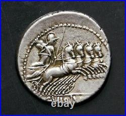 C Vibius Cf Pansa Superb Denarius circa 90 BC Ancient Roman Republic Silver Coin